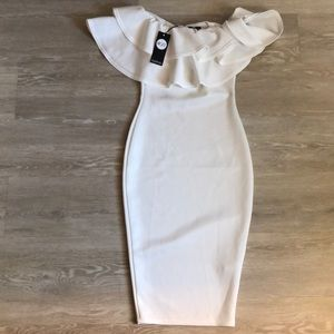 Off the shoulder white dress